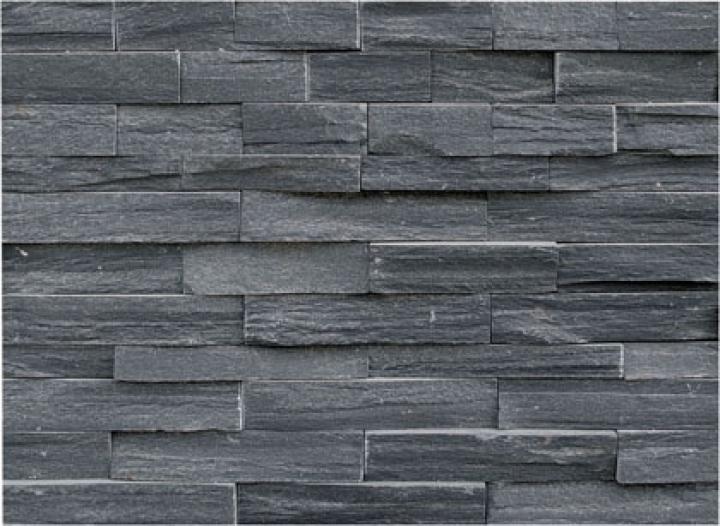 Black quartzite e stone cladding for Stone clad